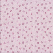 Hearts Paw Prints on Pink Quilting Fabric
