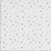 Hearts Paw Prints on White Quilting Fabric