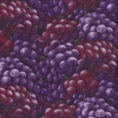 Red and Purple Bunches of Grapes Fruit Quilting Fabric