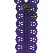 Purple Lace Zip Zipper 20cm / 8 Inches