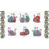 Cat-i-tude Purr fect Together Catitude Cats Quilting Fabric Panel