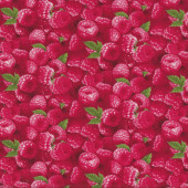 Red Raspberries Raspberry Fruit Kitchen Quilting Fabric