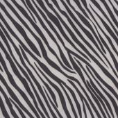 Black and White Zebra Design Nylon Ripstop Waterproof Wipe Clean Fabric