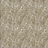 Olive Green Leaves Quilting Fabric