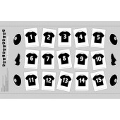 New Zealand Rugby Jerseys Bunting Boys Kids Quilt Fabric Panel