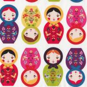 Russian Babushka Dolls Matryoshka Little Kukla Suzy Ultman Quilt Fabric