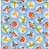 Safari Drive Blue Quilting Fabric