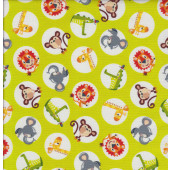 Safari Drive Green Quilting Fabric