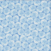 Sand Dollars on Blue Quilting Fabric