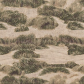 Green Grass on Sand Dunes Landscape Quilting Fabric