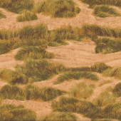 Green Grass on Golden Sand Dunes Quilting Fabric