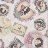 Mirabelle on Pink All For Love Santoro Quilting Fabric