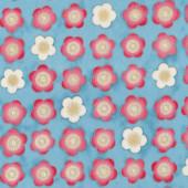 Satsuki Blossom Blue Quilting Fabric