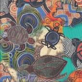 Turtles Aboriginal Design Dreamtime Ocean Quilting Fabric