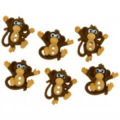 Cute Brown Monkeys Kids Sew Through Buttons