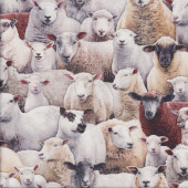 Assorted Sheep Farm Animals Country Quilting Fabric