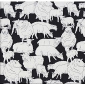 Black Sheepish Quilting Fabric