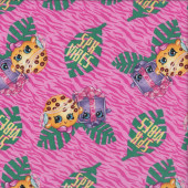Shopkins on Pink SPK Vibes Girls Licensed Quilting Fabric