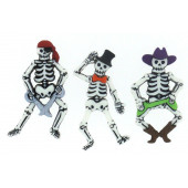 Pirate Skeletons Boys Kids Shank Buttons