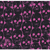 Numb Skulls Pink Quilting Fabric