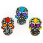 Skulls Day of The Dead Novelty Shank Buttons