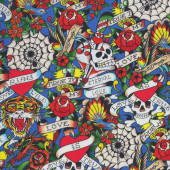 Skulls Love Quilting Fabric