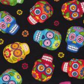 Skulls Quilting Fabric Remnant 35cm x 112cm