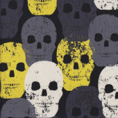 Skulls Rock Yellow Quilting Fabric