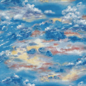 Sky Clouds Sunrise Sunset Blue Sky Nature Landscape Quilt Fabric