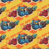 Skylanders on Yellow Full Bloom Ahead Kids Licensed Quilt Fabric