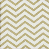 Chic Chevron Gold on White Quilting Fabric