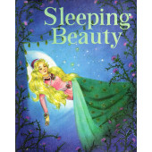 Sleeping Beauty Fairy Tale Vintage Look Quilt Fabric Panel