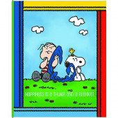 Snoopy and Linus Happiness Kids Licensed Quilting Fabric Panel