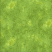 Lime Green Solid ish Basic Watercolour Quilting Fabric