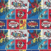 The Amazing Spiderman Webslinger Comics Kids Licensed Quilting Fabric