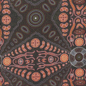 Australian Indigenous Aboriginal Spirit People Brown By Denise Doolan Quilt Fabric