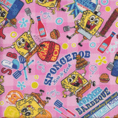 SpongeBob Summer Barbeque Fabric