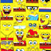 SpongeBob Square Pants Kids Boys Girls Licensed Fabric