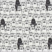 Star Wars Stormtroopers Darth Vader on White Licensed Quilting Fabric
