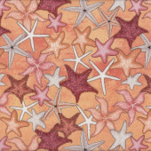 Starfish Sea Sand Ocean Nature Landscape Quilt Fabric