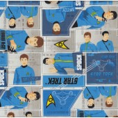 Star Trek Dr Spock Captain Kirk Boys Kids Licensed Quilt Fabric