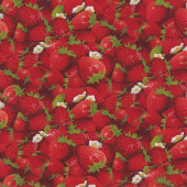 Red Strawberries Strawberry Fruit Kitchen Quilting Fabric
