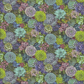 Small Succulents Pot Plant Garden Gardening Quilting Fabric