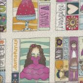 Rectangles Sunshine Girls Quilting Fabric