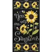 You Are My Sunshine Sunflowers Quilting Fabric Panel