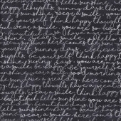 White Script Words on Black You are My Sunshine Quilting Fabric