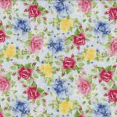Roses Fabric Remnant 25cm x 112cm