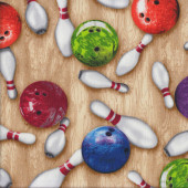 Ten Pin Bowling Quilting Fabric