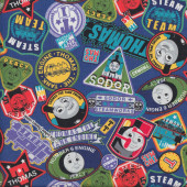 Thomas Percy Badges Fabric