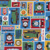 Thomas and Friends Train Badges Boys Kids Kokka Fabric